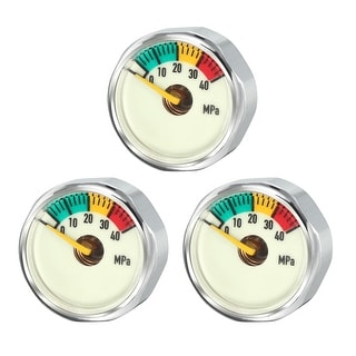 40MPA Pony Bottle Air Pressure Gauge for Scuba Diving Regulators , M8 , 3pcs - 40Mpa M8
