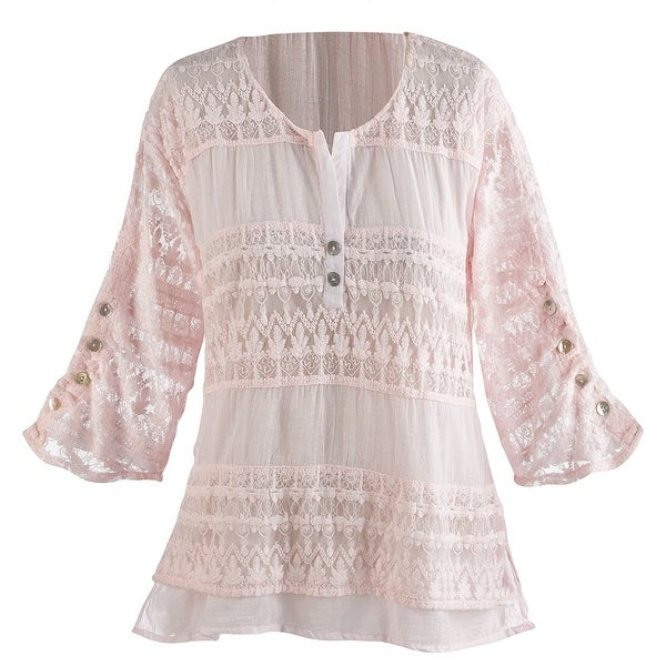 Women's Tunic Top - Powdery Pink Shirt