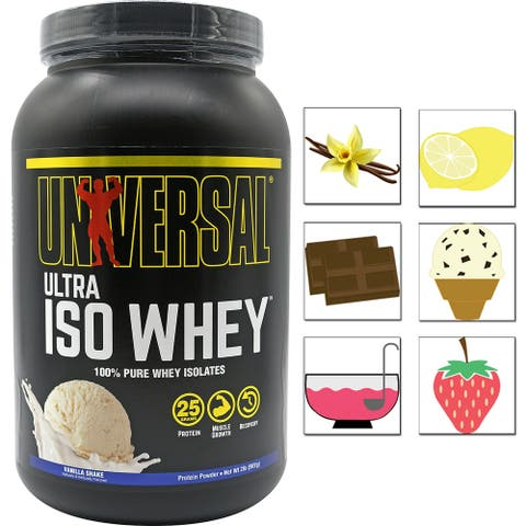 Universal Nutrition Ultra Iso Whey, 30 Servings, Pure Protein Isolate Powder - 30 Servings