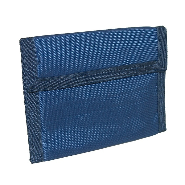 CTM® Solid Color Nylon Trifold Wallet with Fabric Hook and Loop Closure - One size