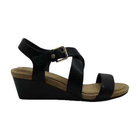 Giani Bernini Womens Blythee Leather Peep Toe Casual Ankle Strap Sandals - 8.5