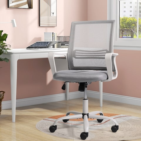 Home Office Chair Computer Task Chair Adjustable Desk Chair With Swivel Casters For Office Leisure