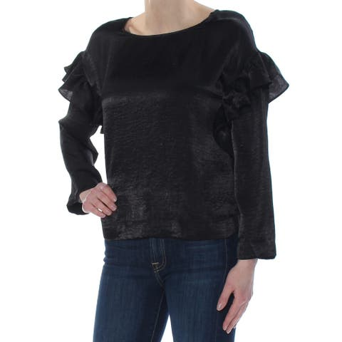 VINCE CAMUTO Womens Black Long Sleeve Top Size XL