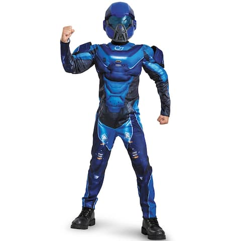 Disguise Blue Spartan Classic Muscle Child Costume
