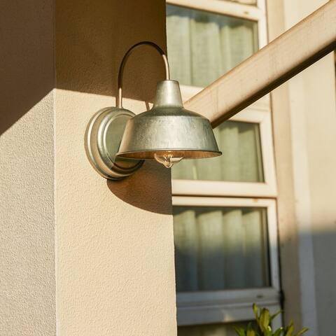 "1-Light Outdoor Barn Light With Galvanized finish - 8.35""x10.65""x11"""