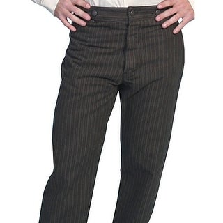 Scully Western Pants Men Stripe Old West Twill Seat Button Fly