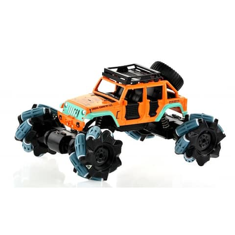 1_18 scale truck with 2.4 GHz remote and rechargeable batteries