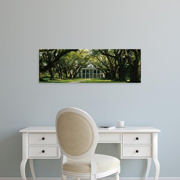 Easy Art Prints Panoramic Images's 'Oak trees by mansion, Oak Alley Plantation, Vacherie, Louisiana' Premium Canvas Art