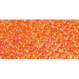 6/0 Orange Lined - Glass Bead Tube 24G