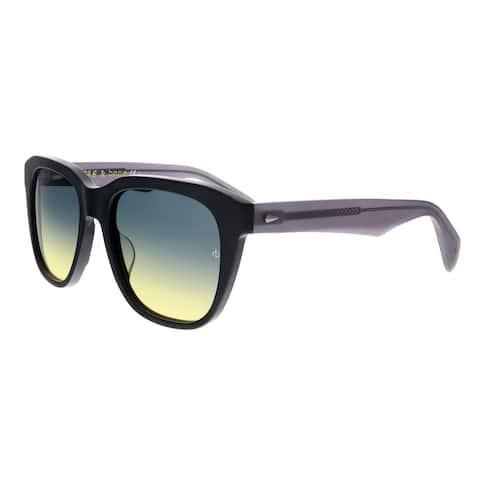 Rag & Bone RNB5001/S 0O6W JE Black/Dark Grey Square Sunglasses - 54-19-145
