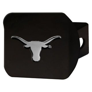 """University of Texas Hitch Cover - Black - 3.4""""x4"""""""