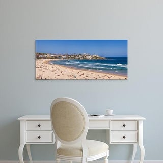 Easy Art Prints Panoramic Images's 'Tourists on the beach, Bondi Beach, Sydney, New South Wales, Australia' Canvas Art