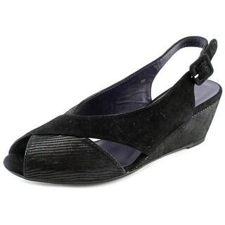 Vaneli Wilda Women W Peep-Toe Suede Slingback Heel