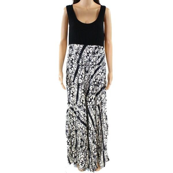 657f78acd4b Shop Karen Kane NEW Black Womens Size XL Scoop Neck Tiered Maxi ...