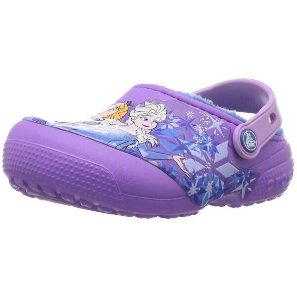 a5eb7b842 Shop Crocs Kids' Fun Lab Lined Frozen Clog - 1 M US Little Kid ...