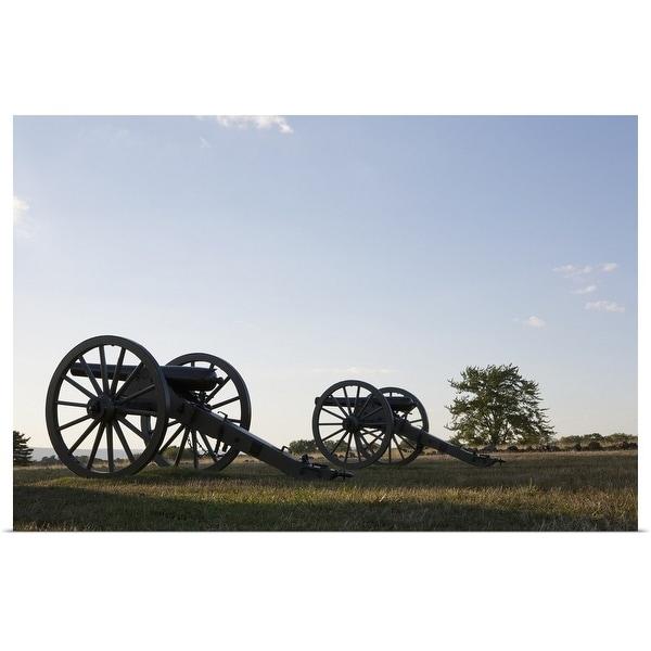 """Cannons on Gettysburg Battlefield"" Poster Print"