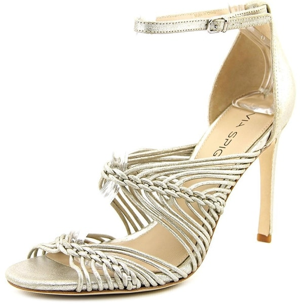 Via Spiga Dorian Women Open Toe Leather Gold Sandals
