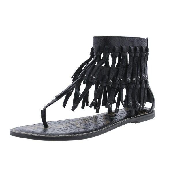 48725ad54d5b1 Shop Sam Edelman Womens Griffen Gladiator Sandals Leather Fringe ...