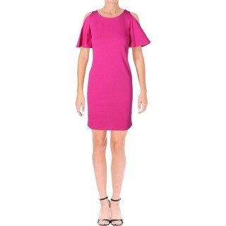 Lauren Ralph Lauren Womens Fatiosa Casual Dress Ponte Cold Shoulder