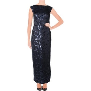 Lauren Ralph Lauren Womens Evening Dress Sequined Floral