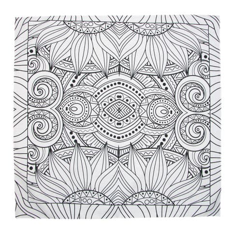 CTM® Sunflower Print Coloring Bandala Bandana - one size