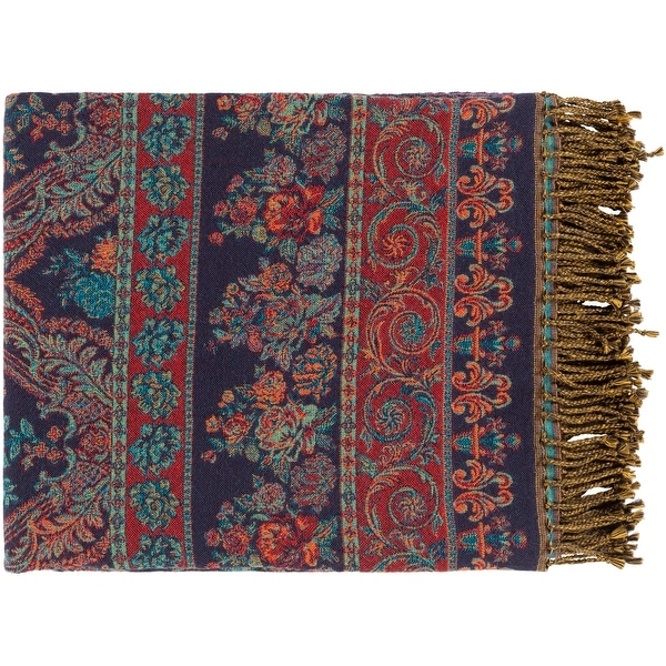 Sima Traditional Paisley Jacquard Throw. Opens flyout.