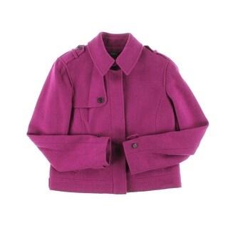 Lauren Ralph Lauren Womens Wool Long Sleeves Jacket - 16