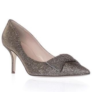 Kate Spade Juliette Bow Toe Dress Pumps - Bronze