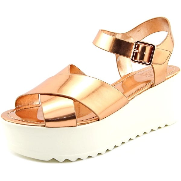 Material Girl Waver Rose Gold Sandals