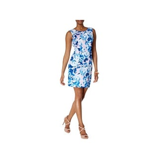 Betsey Johnson Womens Scuba Dress Cut-Out Printed