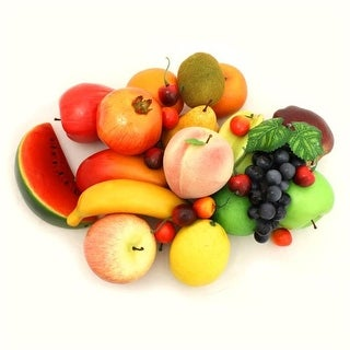 Decorative Realistic Artificial Fruits, Assorted Color - Pack