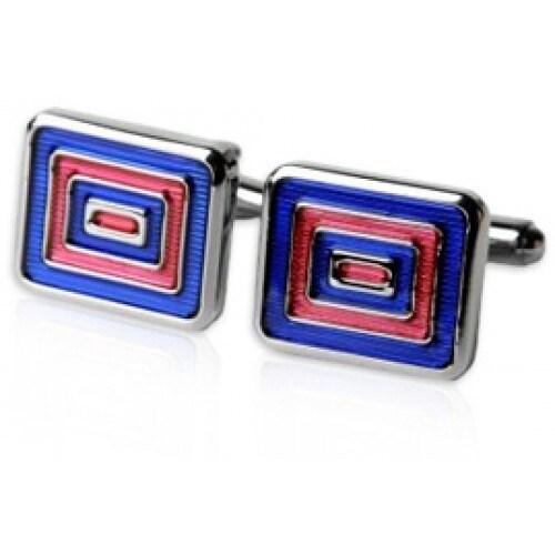 Blue and Red Enamel Cufflinks