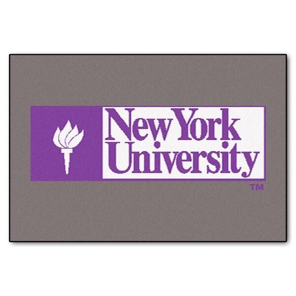 NCAA NYU Violets Starter Mat Rectangular Area Rug