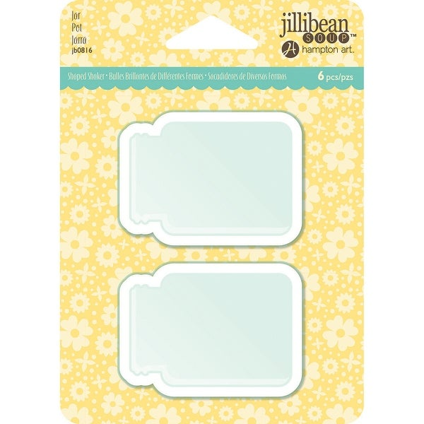 Jillibean Soup PVC Card Shakers 6/Pkg-Jar