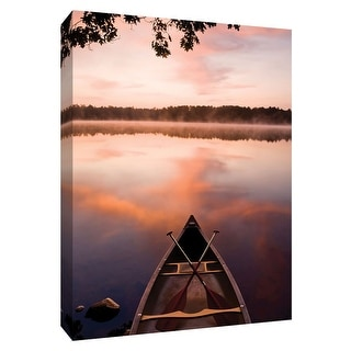 """PTM Images 9-148544  PTM Canvas Collection 10"""" x 8"""" - """"Lake at Dawn"""" Giclee Forests Art Print on Canvas"""
