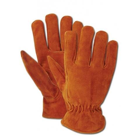 Magid TB441ETL Men's Rich Suede Split Cowhide Driver Glove, Large