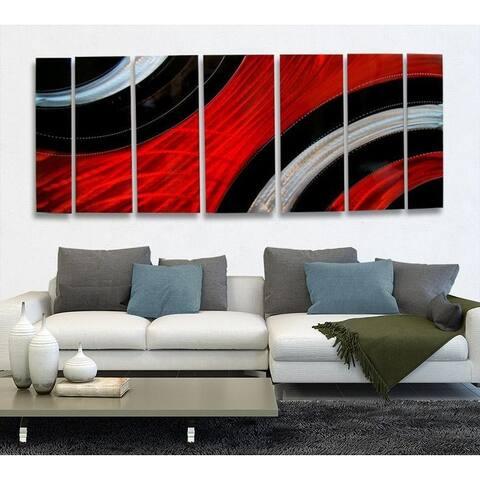 Statements2000 Red Black Modern Metal Wall Art Painting by Jon Allen - Critical Mass