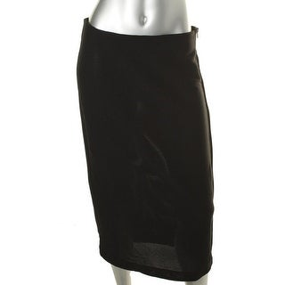 Kiind Of Womens Straight Skirt Stretch Solid