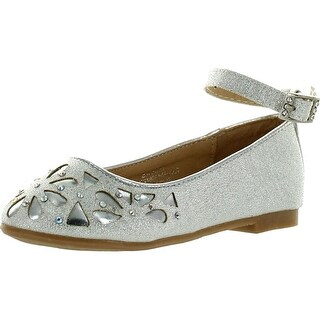 Lj-Adorababy Girls Ba0037 Dress Flats With Perforations And Rhinestones
