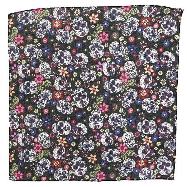 CTM® Day Of The Dead Skull Print Bandana - One Size - Overstock - 27375492