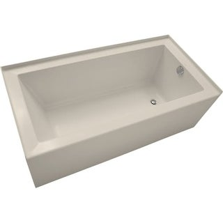 "Mirabelle MIRSKS6030R Sitka 60"" X 30"" Acrylic Soaking Bathtub for Three Wall Alcove Installations with Right Drain"