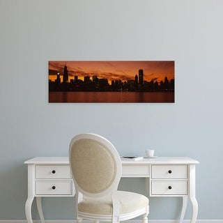 Easy Art Prints Panoramic Images's 'Buildings at the waterfront, Lake Michigan, Chicago, Illinois, USA' Canvas Art