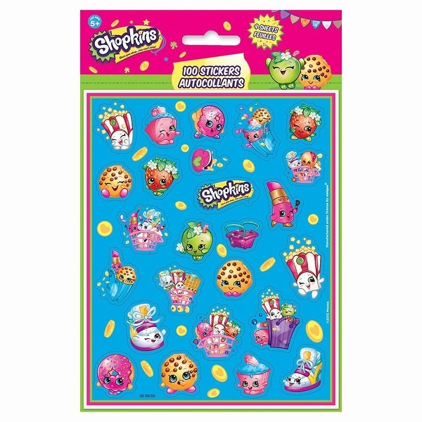 Shopkins Sticker Sheets, 4ct