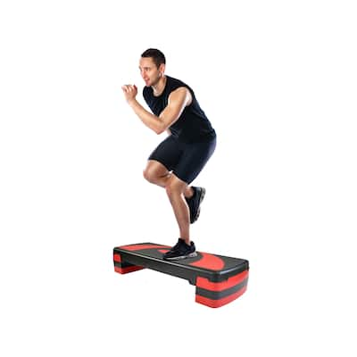 3 Level Adjustable Aerobic Step Platform Exercise Accessory for Home Gym Cardio Workout