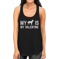 My Dog My Valentine Womens Tank Top Valentine's Gift For Dog Lover