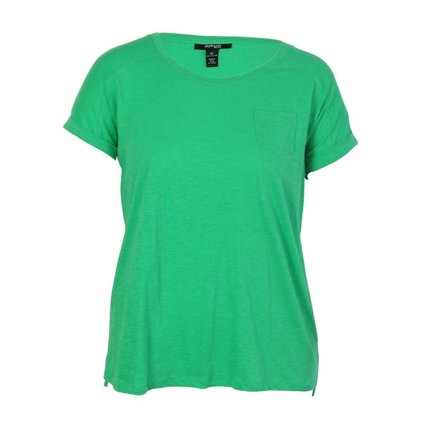 Style & Co. Women's Pocketed Solid Color Cotton Top