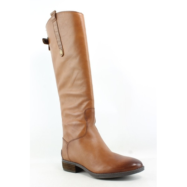 0f1a02c28 Shop Sam Edelman Womens Penny Whiskey Leather Riding Boots Size 6 ...