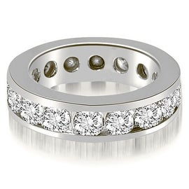 3.40 cttw. 14K White Gold Round Channel Eternity Ring