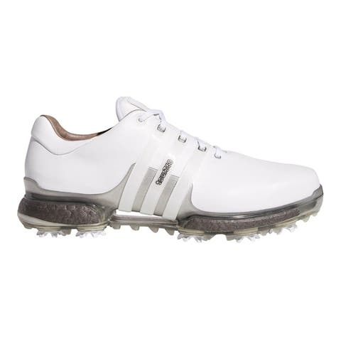 New Men's Adidas Tour 360 Boost 2.0 Golf Shoes White/Trace Grey F33729-F33795