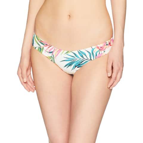 Billabong Ivory Womens Medium M Island Hop Hawaii Lo Bikini Bottom